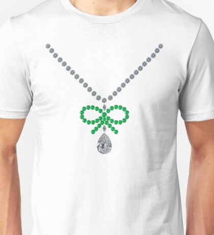 Bow Emerald Necklace Unisex T-Shirt