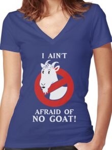 I Afraid of No Goats Shirt Women's Fitted V-Neck T-Shirt