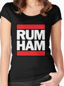 RUM HAM // Mac & Frank // Original High Quality Women's Fitted Scoop T-Shirt