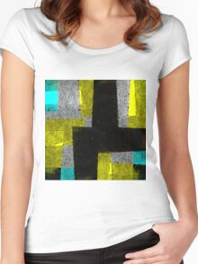 Abstract Tiles Women's Fitted Scoop T-Shirt