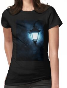 Street Lamp at Rainy Night Womens Fitted T-Shirt