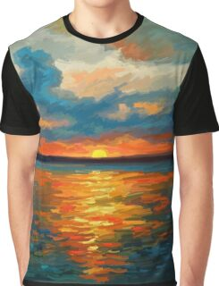 Sunset Impression Graphic T-Shirt