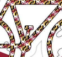Maryland Flag Bicycle  Sticker