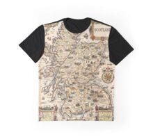 1927 vintage Scotland map design - unique gift idea Graphic T-Shirt