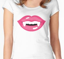Sweet Monster Lips! - white edition Women's Fitted Scoop T-Shirt