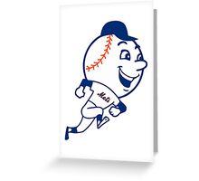 NY Mets Mascot Greeting Card
