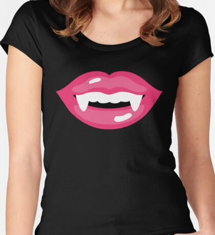 Sweet Monster Lips! - black edition Women's Fitted Scoop T-Shirt