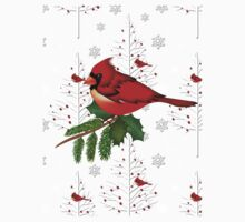 Cardinal in the Snow Baby Tee