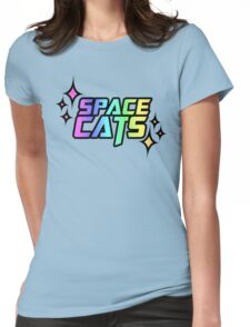 SPACE CATS! Womens Fitted T-Shirt