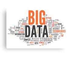 big data orange cloud Canvas Print
