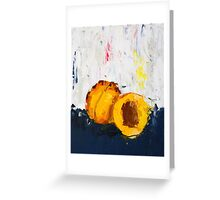 Apricot in Half Greeting Card