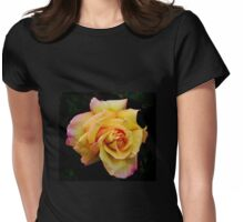 Double Hearted Peach Rose Womens Fitted T-Shirt