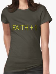 Faith Plus One Womens Fitted T-Shirt
