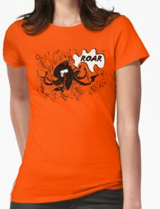 Roaring Octopus with frills Womens Fitted T-Shirt