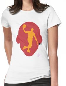 Basketball Icon Dunk MIA Womens Fitted T-Shirt
