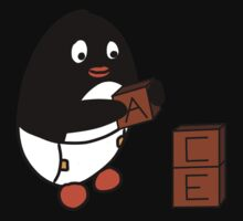 Baby Penguin With Blocks Baby Tee