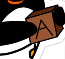 Baby Penguin With Blocks Sticker
