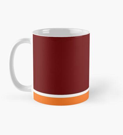 Maroon Orange and White Banded Mug
