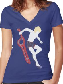 Beach Shulk Vector Women's Fitted V-Neck T-Shirt
