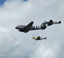 D-Day Formation - Mustang, Dakota, & Spitfire by PathfinderMedia