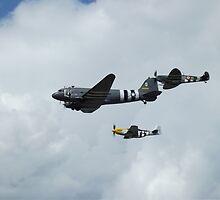 D-Day Formation - Mustang, Dakota, & Spitfire by PathfinderMedia