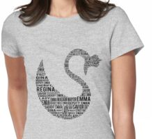 Swan Queen - Nicks And Names Womens Fitted T-Shirt