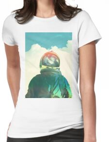 God is an astronaut Womens Fitted T-Shirt