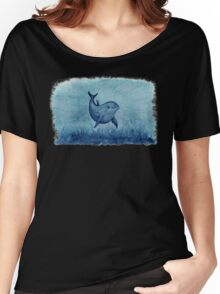Blue Notches the Watercolor Dolphin Women's Relaxed Fit T-Shirt
