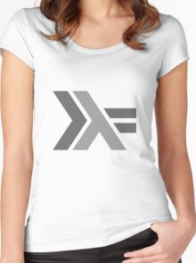 Haskell Logo Women's Fitted Scoop T-Shirt