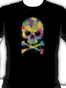 Abstract Trendy Graffiti Watercolor Skull  T-Shirt