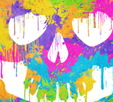 Abstract Trendy Graffiti Watercolor Skull  Sticker