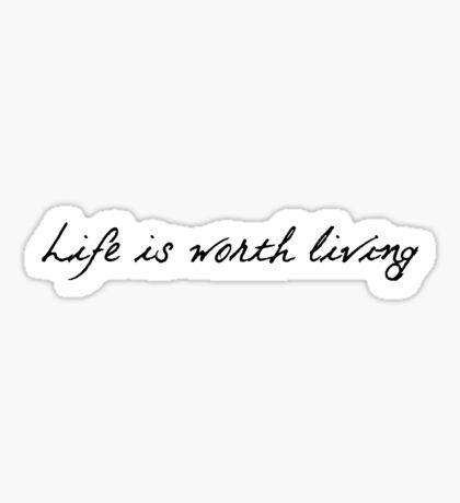 Life Is Worth Living Justin Bieber Sticker