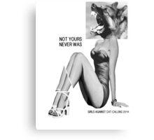 girls against cat calls 2014 Metal Print