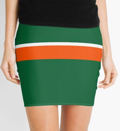 Green Orange and White Mini Skirt