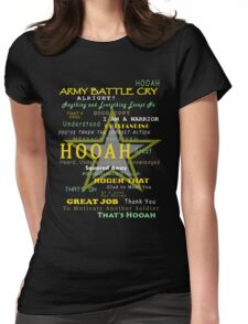 Army - Army Battle Cry Womens Fitted T-Shirt
