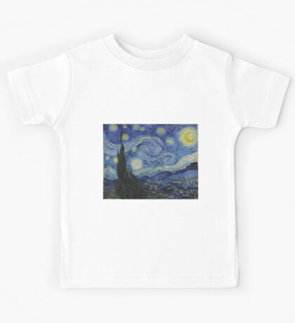 The Starry Night by Vincent Van Gogh Kids Tee