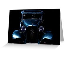 Black and blue Greeting Card