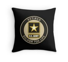 Army - Soldier For Life Throw Pillow