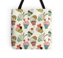 Cute cartoon cupcakes Tote Bag