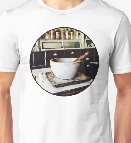 Mortar and Pestle in Apothecary Unisex T-Shirt