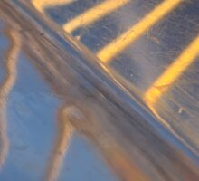 abstract metallic blue, yellow and silver reflection Sticker