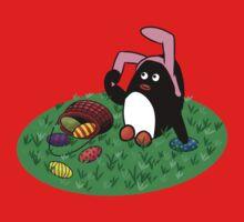 Easter Penguin One Piece - Short Sleeve
