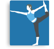 Wii Fit Trainer Vector Canvas Print