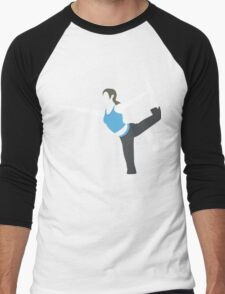 Wii Fit Trainer Vector Men's Baseball ¾ T-Shirt
