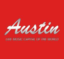 Austin live music (silver)  One Piece - Short Sleeve
