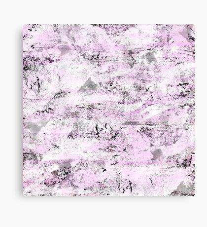 Pink & Gray Abstract Canvas Print