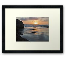 Sunset from Norman Bay at Wilsons Promontory Framed Print