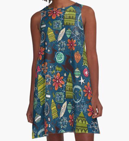 joyous jumble indigo A-Line Dress