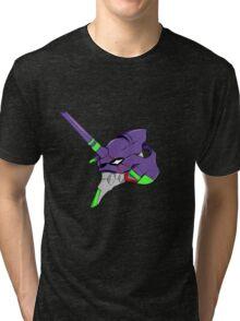 evangelion unit 1 head Tri-blend T-Shirt