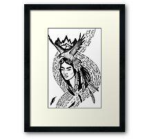 Native american shaman Framed Print